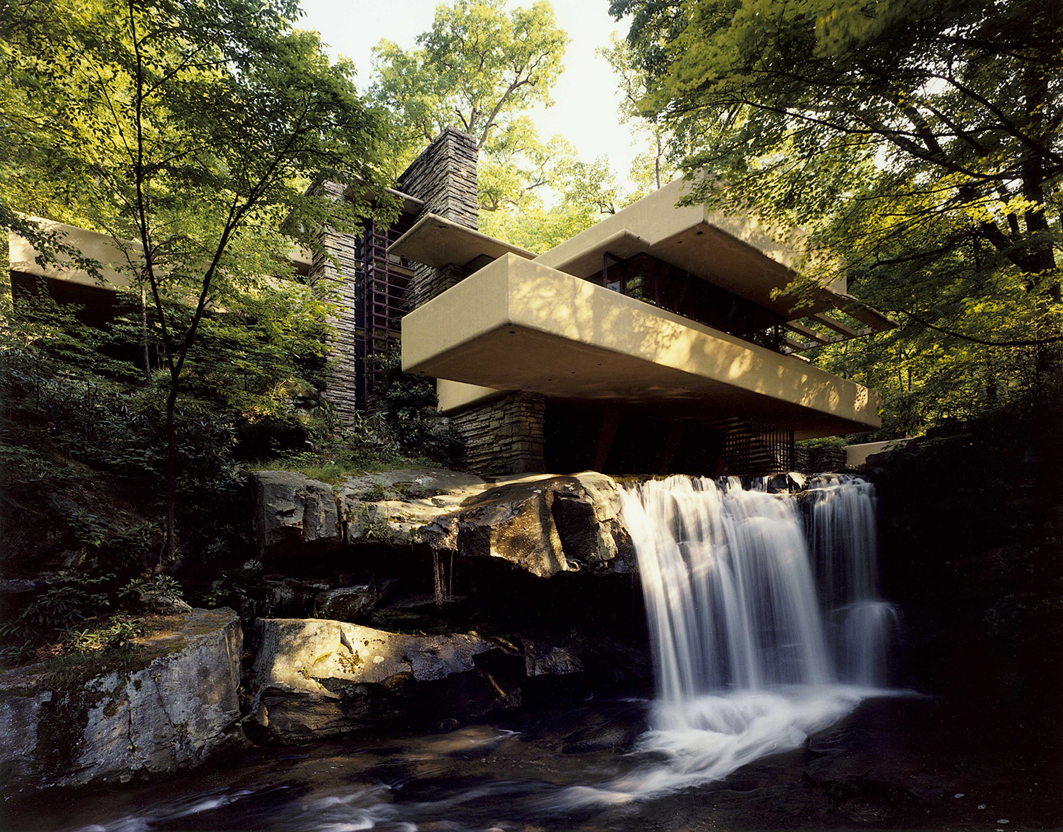 Fallingwater Pictures Low Angle Near Waterfall Frank