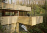 [Picture of Fallingwater southwest terrace over waterfall (from northwest)]